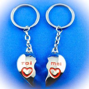 Porte clé Duo Coeur Toi et Moi