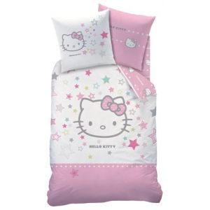 Cti Hello Kitty Galaxy - Housse de couette et 2 taies (140 x 200 cm)