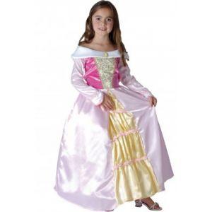 Déguisement princesse robe satinée avec col bateau (taille au choix)