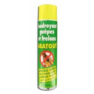 Abatout Spray foudroyant guêpes et frelons Spécial nid (800 ml)