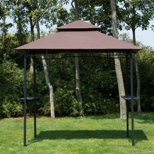 Homcom Abri tonnelle pour barbecue 245x150x255cm
