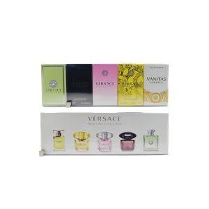 Versace Coffret de 5 miniatures pour femme : Vanitas, Yellow Diamond, Bright Crystal, Crystal Noir et Versence