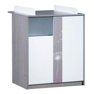 Sauthon Commode 2 portes et 1 niche Spring avec dispositif à langer 76 x 95 x 67 cm