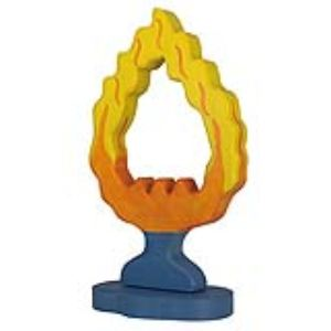Holztiger Figurine Cercle de feu