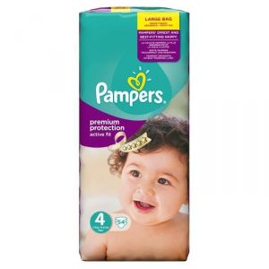 Pampers Active Fit taille 4 Maxi 7-18 kg - 54 couches