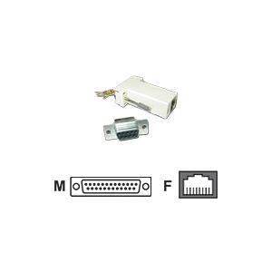 MCL Samar CG-414 - Adaptateur à câbler DB25 mâle / RJ 45