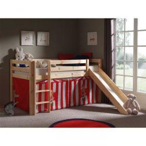 Vipack Furniture Lit Pino avec toboggan Cirque pour enfant 90 x 200 cm