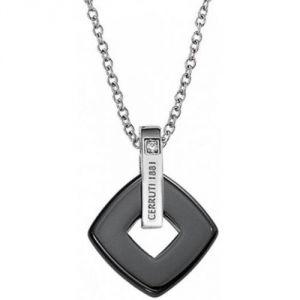 Cerruti R41406NZ - Collier et pendentif Losange en céramique et zirconium