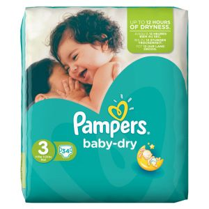 Pampers Baby Dry taille 3 Midi 4-9 kg - 204 couches