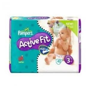 Pampers Active Fit taille 3 Midi (4-9 kg) - 42 couches
