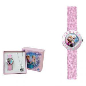 Coffret montre avec collier la Reine des Neiges