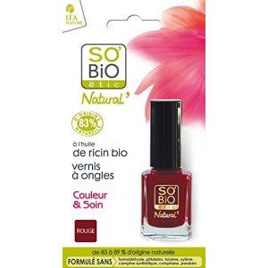 So'Bio Étic Vernis à ongles, Couleur et soin - 01 séduisant rouge