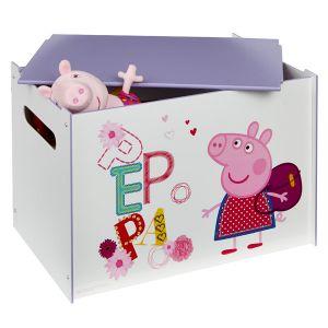 Worlds Apart Coffre à jouets en bois Peppa Pig