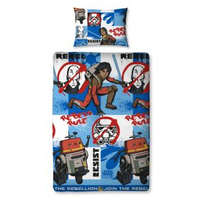 Character World Disney Star Wars Rebels Tag - Housse de couette et taie (135 x 200 cm)