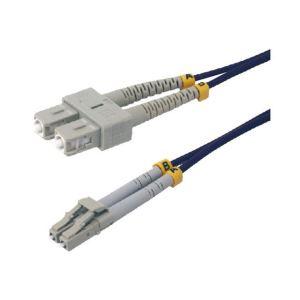 MCL Samar FJOM4/SCLC-1M - Cable jarretiere fibre optique OM4 duplex multimode 50/125 SC / LC 1 m