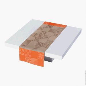 Le Jacquard Français Demeure en ville - Chemin de table 100% coton (55 x 150 cm)