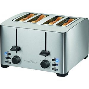 Proficook PC-TA 1073 - Toaster avec grille spéciale viennoiseries 4 tranches