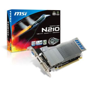 MSI N210-MD1GD3H/LP - Carte graphique GeForce 210 Low Profile 1 Go DDR3 PCI-E 2.0