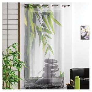Voilage à oeillets Equilibre photprint (140 x 240 cm)