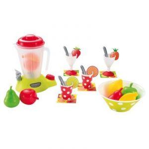 Ecoiffier 2626 - Blender avec fruits en plastique, coupes, verrines et cuillères