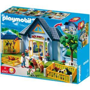 Playmobil 4343 - Clinique vétérinaire avec parc