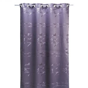 Rideau à oeillets Script en polyester écritures (140 x 240 cm)