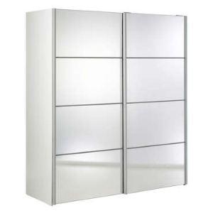 Armoire Verona 2 portes coulissantes 2 étagères et miroirs