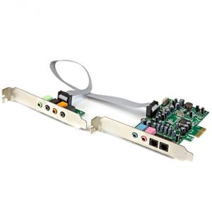 StarTech.com PEXSOUND7CH - Carte son PCI Express 7.1 canaux pour son surround 24 bit 192 KHz