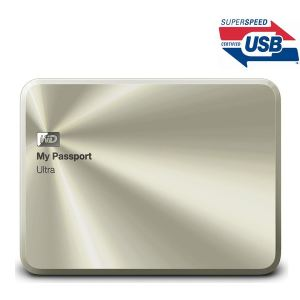 "Western Digital WDBTYH0010B - Disque dur externe portable My Passport Ultra Metal Edition 1 To 2.5"" USB 3.0"