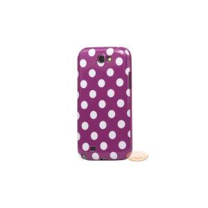 Amahousse 1731violpois - Coque à pois pour Galaxy Note 2