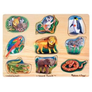 Melissa & Doug Puzzle Sonore - Jardin Zoologique 24 pièces