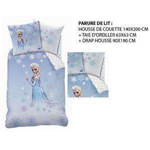 Cti La Reine des Neiges Princess Frozen - Housse de couette, drap housse et taie (140 x 200 cm)