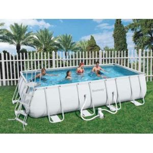 Bestway 56256 piscine tubulaire rectangulaire 549 x 274 for Piscine rectangulaire bestway