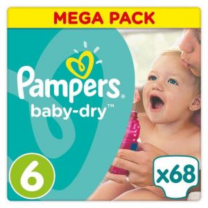 Pampers Baby Dry taille 6 (15 kg) -  68 couches