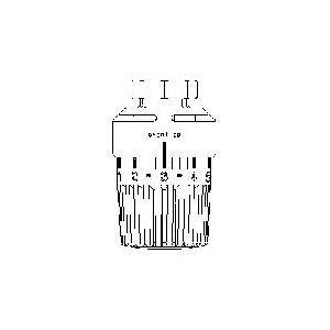 Oventrop 1011466 - Tête thermostatique sans pastille de mémoire UNI LH Fileté diamètre M 30x1.5