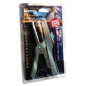 Bostitch SP1906E - Pince agrafeuse P3 en acier avec 2500 agrafes