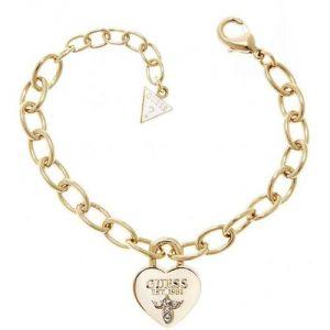 Guess UBB21568 - Bracelet Candenas coeur en métal doré pour femme