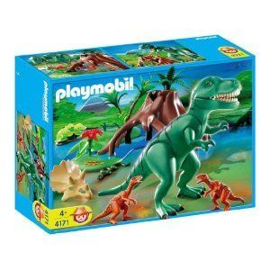 Playmobil 4171 - Tyrannosaure avec Vélociraptors