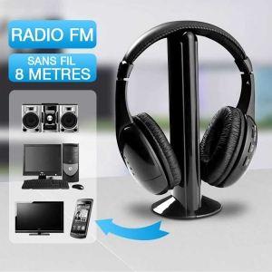 Casque micro sans fil avec radio FM
