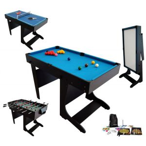 BCE Riley Billard table multi jeux 21 en 1 pliable