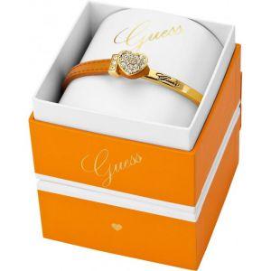 Guess UBS21305 - Bracelet pour femme en cuir et métal doré