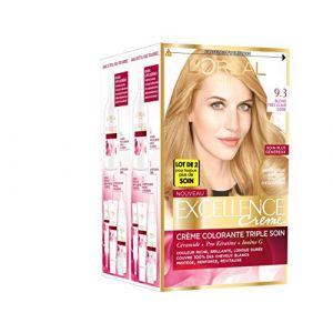 L'Oréal Excellence 9.30 Blond Très Clair Doré - Crème colorante triple protection