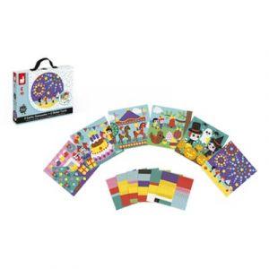 Janod 6 cartes gommettes fêtes