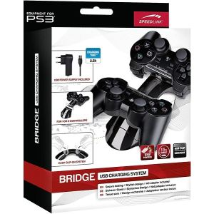 Speed Link Chargeur pour 2 Manettes Playstation 3 - Adaptateur secteur ou USB