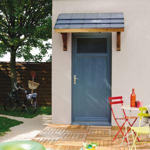 Jardipolys MAR2010 - Auvent 1 pan pour porte d'entrée - 2,1 m2