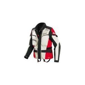 Spidi Voyager 3 (blanc et rouge) - Blouson de moto textile pour homme