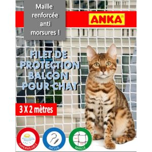 Anka Filet de protection pour chat 3 x 2 m