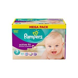 Pampers Active Fit taille 3 Midi 4-9 kg - 90 couches