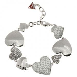 Guess UBB11449 - Bracelet Multicoeurs Strass Argent Femme