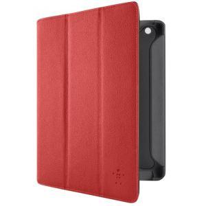 Belkin F8N755cw Folio Trifold - Pochette de protection en cuir pour iPad 3